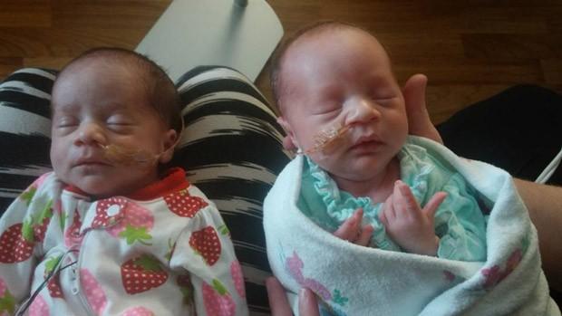 Darla e Dalanie são a terceira dupla de gêmeos de Danesha (Foto: Reprodução/Facebook)