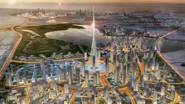 Projeto da torre Dubai Creek Harbour (Foto: Divulgação)