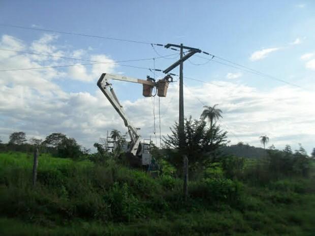 Causas do rompimento dos cabos ainda não foram descobertas (Foto: Divulgação/Cemar)