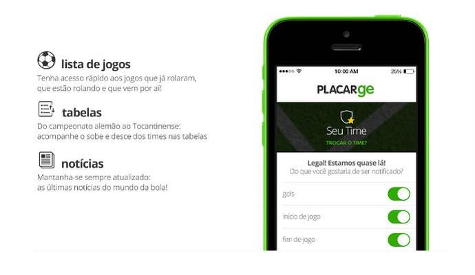 Aplicativo Placar GE  acompanhe os jogos e receba notificações no celular b83051f607f07