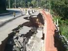Obra para reparo de cratera em Paraibuna deve começar em janeiro