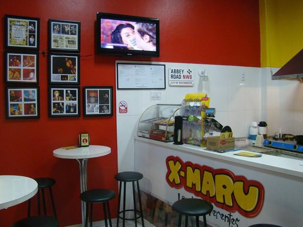G1 Lanchonete batiza sanduíches com nomes de músicos e astros do rock notícias em Santa Catarina # Decoração De Lanchonete Pequena E Simples