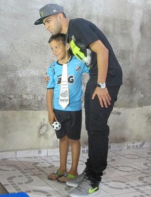 Gabriel, atacante do Santos (Foto: João Paulo de Castro)