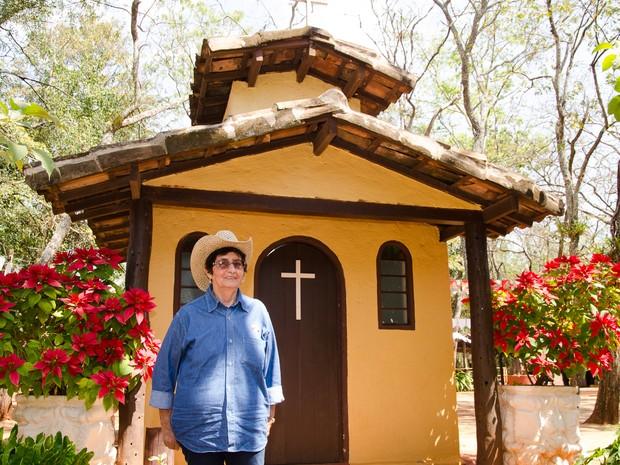 A aposentada Dalva Aparecida Utuai é presença garantida na Festa do Peão de Barretos. (Foto: Érico Andrade/G1)