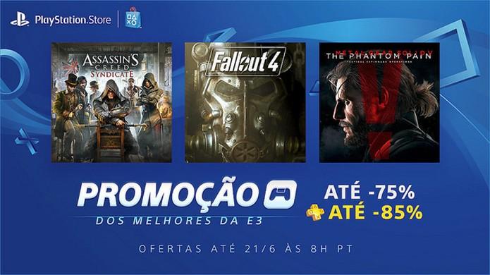 Promoção dos Melhores da E3 traz grandes descontos ao PlayStation 4 na semana da E3 2016 (Foto: Reprodução/PlayStation Blog)