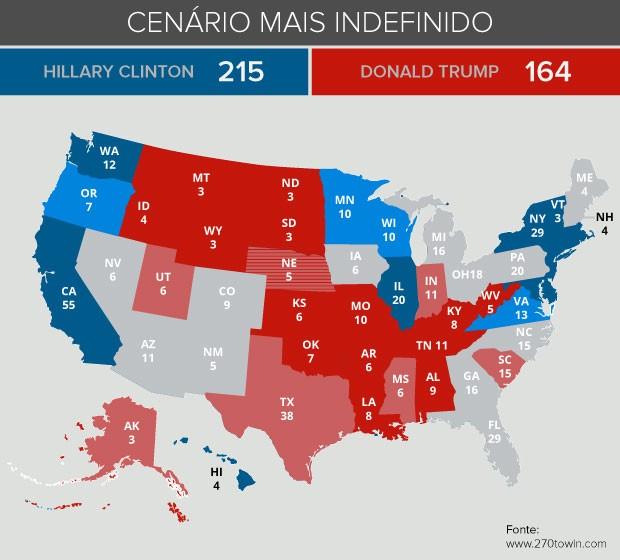 Mapa eleição cenário mais definido