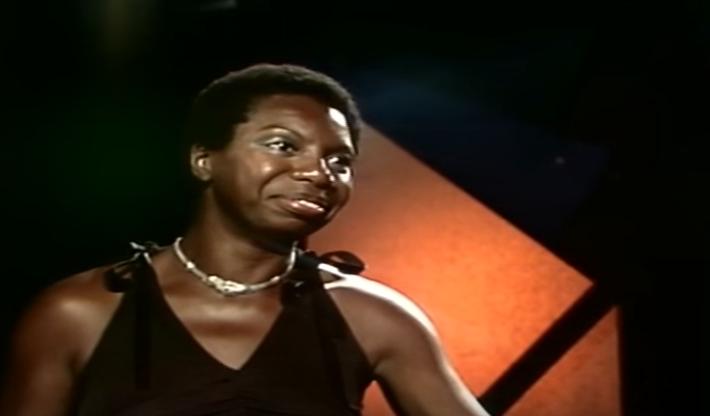 Nina Simone, em  1976, no Festival de Montreux (Foto: Reproduo/Youtube)
