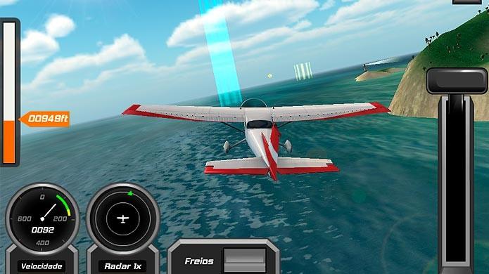 Saiba como jogar Flight Pilot, simulador de avião real para smarts (Foto: Reprodução/Tais Carvalho)