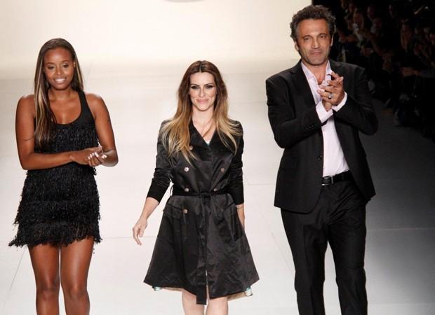 Roberta, Cleo e Domingos (Foto: Ag News)