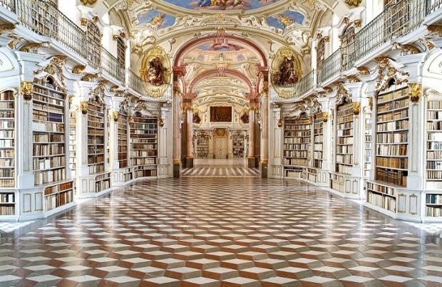 Biblioteca do Monastério Beneditino de Admont  (Foto: Divulgação)