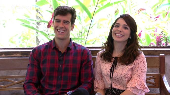Sabrina Petraglia e Marcos Pitombo tomam café com Ana Maria (Foto: TV Globo)