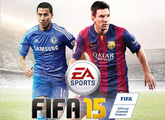 Hazard e Messi dividirão a capa de Fifa 15 na versão para o Reino Unido (Foto: Divulgação)