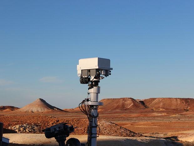 Réplica em tamanho real do robô Curiosity, criada para campanha da companhia aérea Qantas (Foto: Divulgação/Qantas)