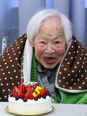 Misao Okawa, a mulher mais velha do mundo (Foto: AFP Photo)