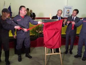 Várias autoridades marcaram presença na cerimônia de inauguração. (Foto: Divulgação/Bombeiros)