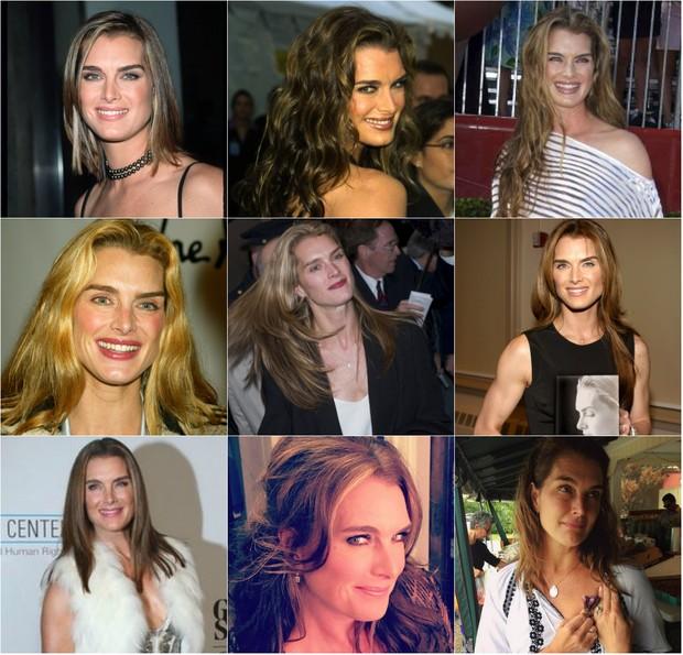 Os diferentes penteados de Brooke Shields  (Foto: Reprodução do Instagram)