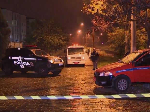 Taxista é morto após tiroteio na Zona Norte de Porto Alegre (Foto: Reprodução/RBS TV)