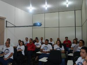 Oficina aconteceu no auditório da Fundação Rede Amazônica (Foto: Thiago Cabral/ TV Acre)