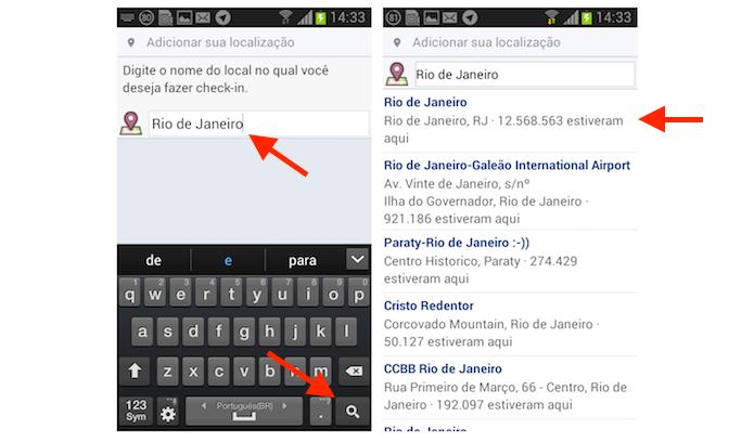 Adicionando uma localização em uma postagem do Facebook Lite para Android (Foto: Reprodução/Marvin Costa)