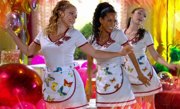 Leandra Leal, Taís Araújo e Isabelle Drummond, as empreguetes (Foto: Reprodução)
