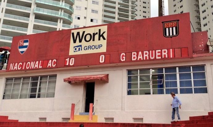 Nacional 10 x 0 Barueri (Foto: Divulgação)
