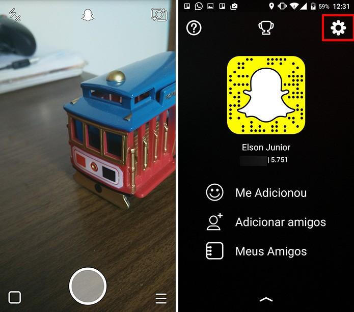 Acesse as configurações do aplicativo para conferir se Snapchat Beta foi ativado (Foto: Divulgação/Elson de Souza)