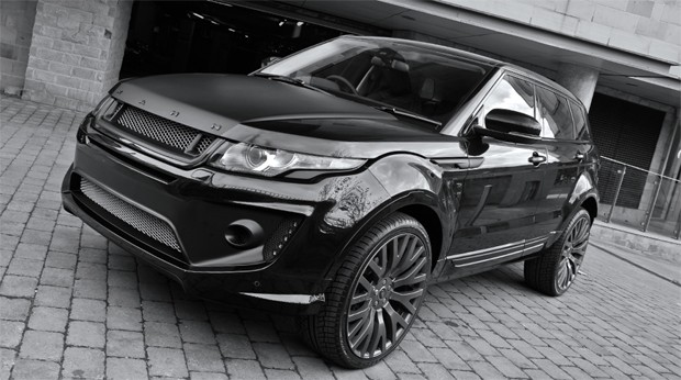 empresa de customiza o mostra range rover evoque mais invocado auto esporte not cias. Black Bedroom Furniture Sets. Home Design Ideas