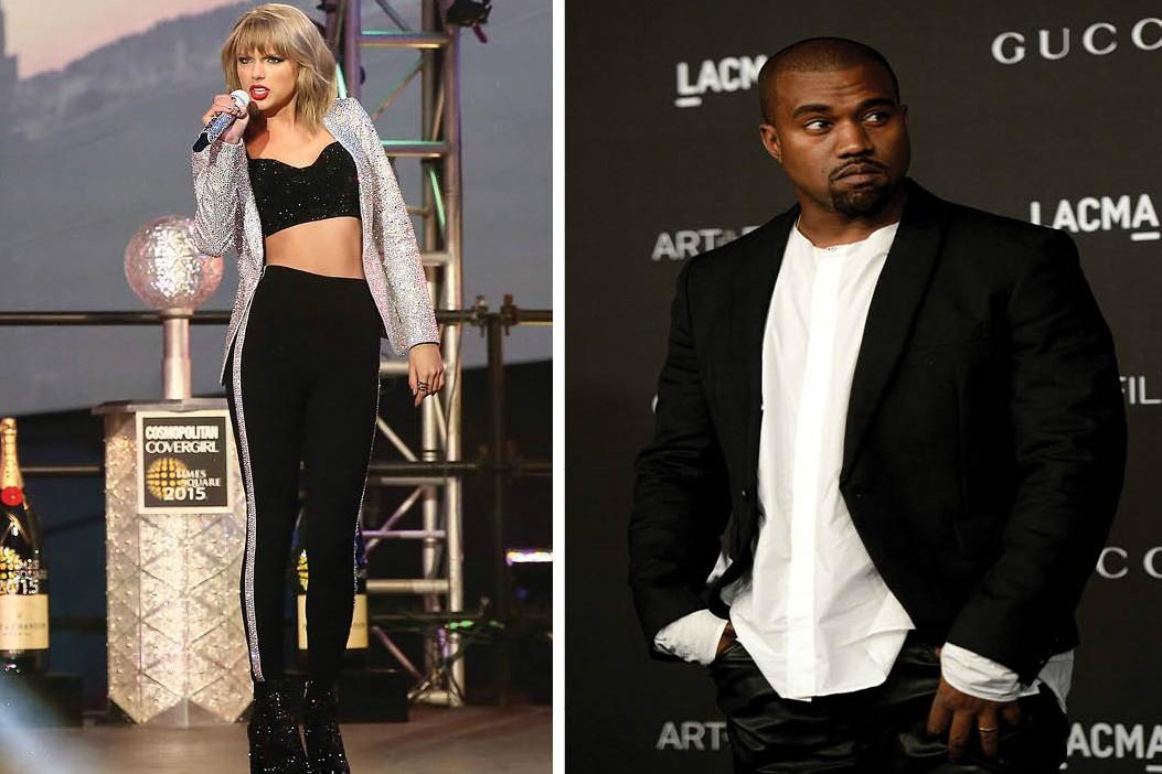 Em 2009, Kayne West subiu ao palco do VMA e desmereceu o troféu entregue a Taylor Swift. Desde então, o comentário e o surto de West durante a premiação viraram piadas entre Taylor e e seus amigos.  (Foto: Getty Images)