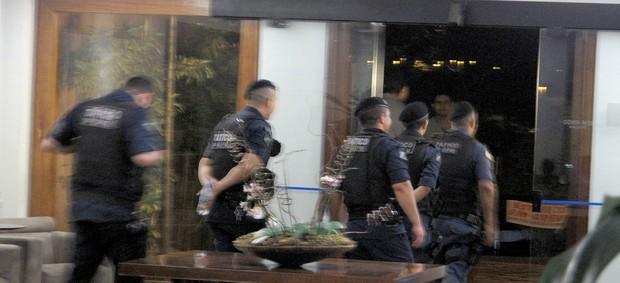 policiamento hotel Corinthians derrota (Foto: Rodrigo Faber)