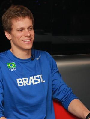 Cesar Cielo, no programa Conexão SporTV (Foto: Thiago Lavinas/SporTV.com)