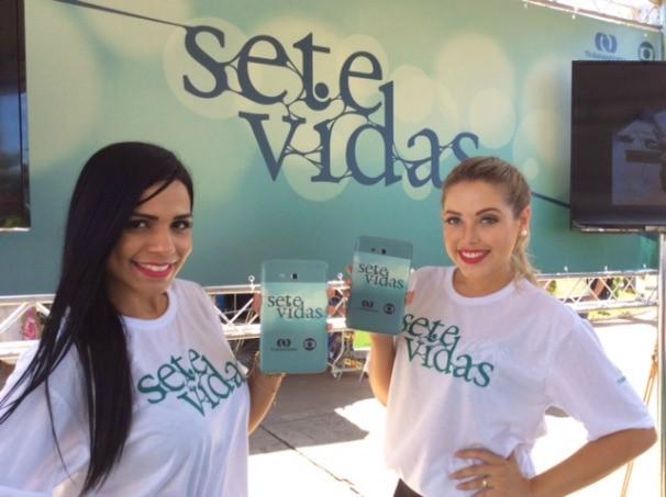 TV Anhanguera promove  lançamento da novela Sete Vidas e TV digital. (Foto: TV Anhanguera)