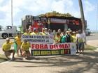 Grupo realiza ato em Maceió em defesa do impeachment de Dilma