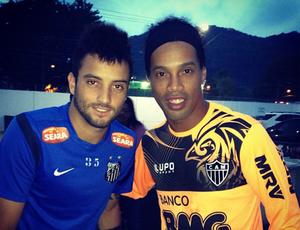 Felipe Anderson - Ronaldinho Gaúcho - Treino (Foto: Reprodução/Instagram)