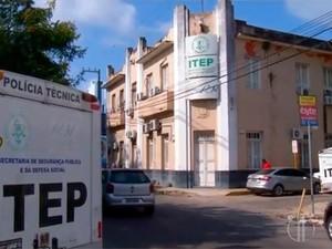 Sede do Itep do Rio Grande do Norte, em Natal (Foto: Reprodução/Inter TV Cabugi)