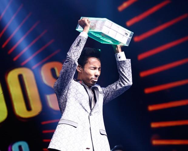 Kiell foi o grande vencedor da quarta semana (Foto: Raphael Dias/Gshow)