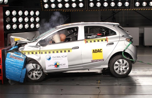 Chevrolet Onix em crash test do Latin NCAP (Foto: Latin NCAP)