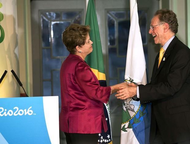 Carlos Arthur Nuzman e Dilma Rousseff, Casa Brasil (Foto: Agência AFP)