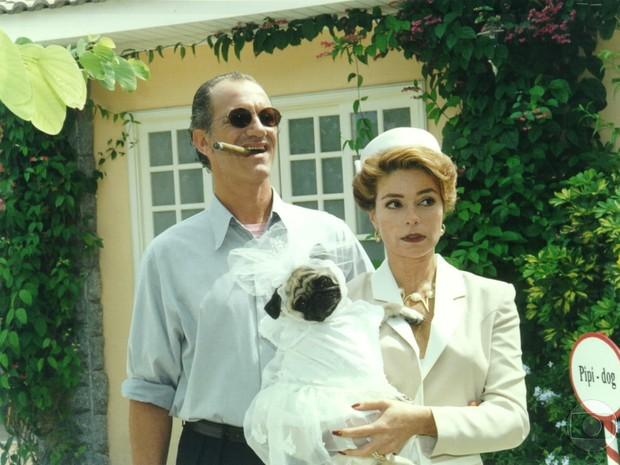Trajano (Ricardo Petráglia) e Meg (Françoise Forton) em Por Amor