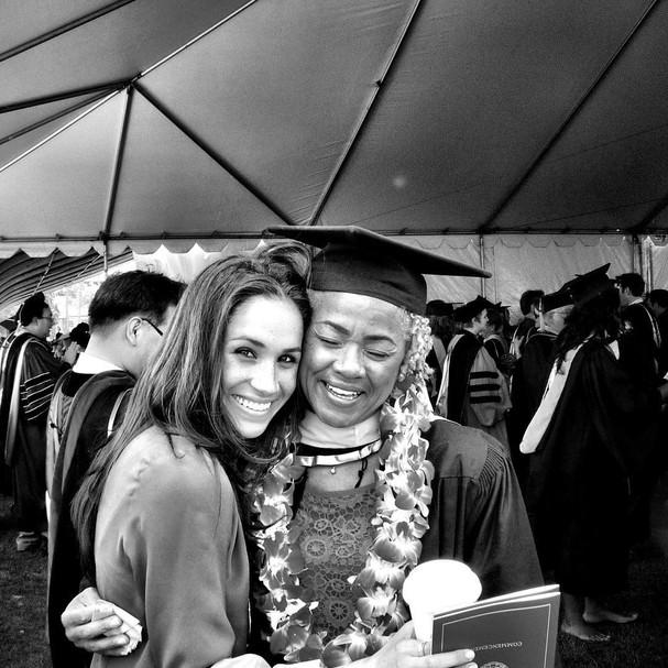 Meghan Markle com a mãe, Doria Radlan (Foto: Instagram/Reprodução)