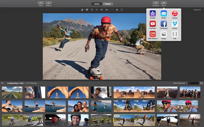 iMovie ganhou muitas novidades após lançamento do Yosemite (Foto: Divulgação)