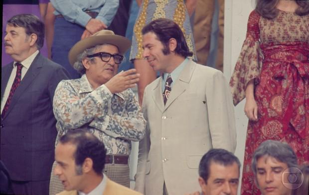 Silvio Santos na vinheta de fim de ano da Globo em 1972 (Foto: Acervo Globo)