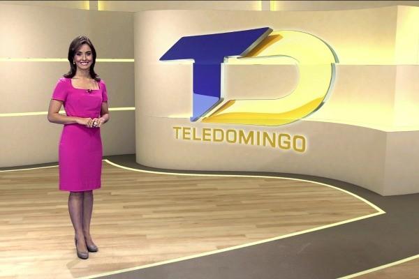 Maíra Gatto é a nova apresentadora do Teledomingo (Foto: Reprodução/ RBS TV)