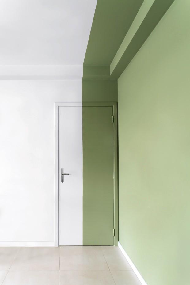 Living verde e branco (Foto: Edu Castello / Editora Globo)