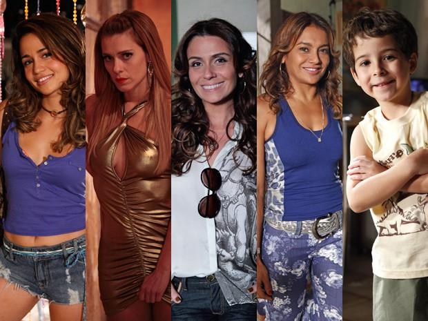 Morena, Jéssica, Lucimar, Junior e Helo são possíveis vítimas (Foto: Salve Jorge / TV Globo)