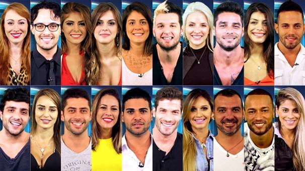 Os 20 participantes do BBB 14, que estreia na Globo nesta terça-feira, dia 14, logo após Amor à Vida (Foto: Globo)