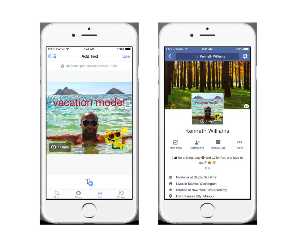 Modo férias. Facebook permitirá criar perfis temporários (Foto: reprodução/Facebook)