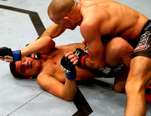 UFC 158 Georges St-Pierre e Nick Diaz (Foto: Ag&#234;ncia Getty Images)