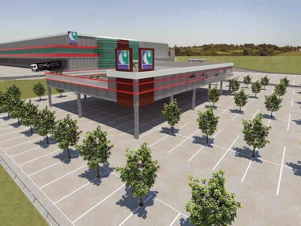 Centro de Distribuição terá 15 mil m² de área construída  (Foto: Divulgação Covabra)