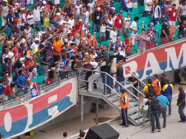 Claudia Leitte na Arena Fonte Nova (Foto: Eric Luís Carvalho/Globoesporte.com)