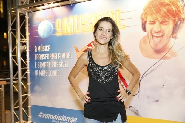 Ingrid Guimarães em estreia de musical no Rio (Foto: Alex Palarea e Felipe Panfili/ Ag. News)